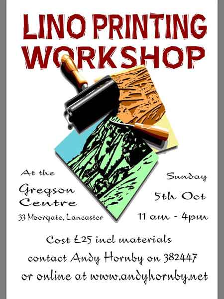 Andy Hornby Lino Print workshop