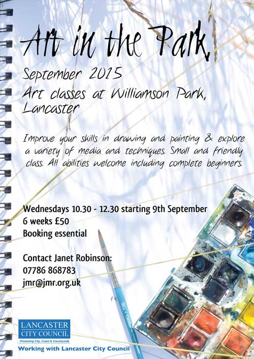 Janet Robinson Williamson Park Lancaster Art Classes
