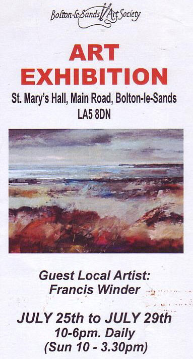Bolton le Sands Annual Exhibition Graham Twyforn Guest Artist