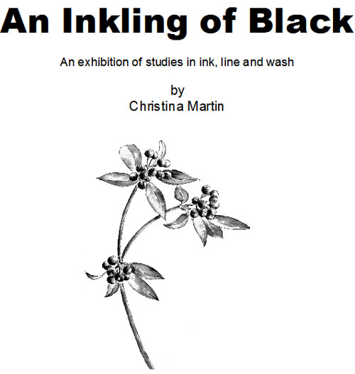 Christina Martin Exhibition An Inkling of Black