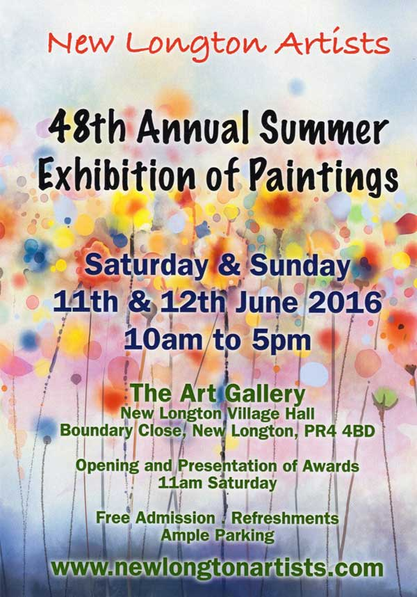 New Longton Artist Annual Summer Exhibition of Paintings