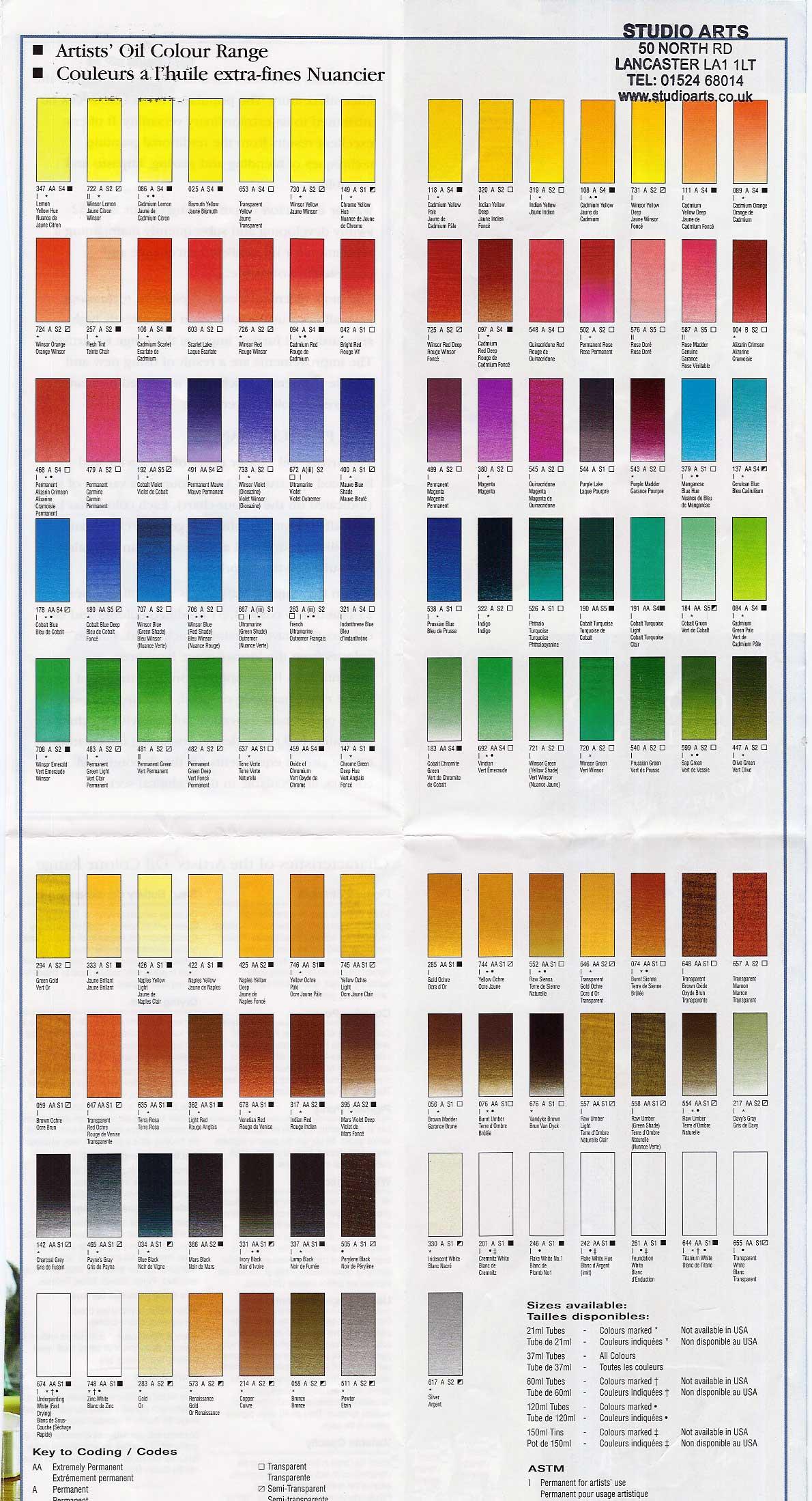 chart level oil colour: Studio arts crafts and graphics titanium white opaque artist oil