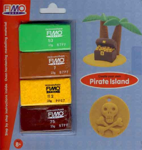 Fimo Soft Pirate Island Set 4 colours