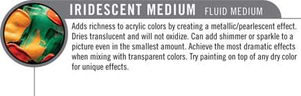 Irridescent Fluid medium for acrylics