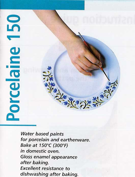 Porcelaine Paint Information And Colour Chart Page From