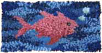 Pegged Fish Rug
