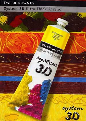 3D System 3 very heavy body acrylic paint