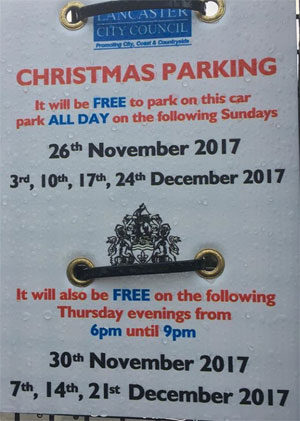 Free Christmas Parking