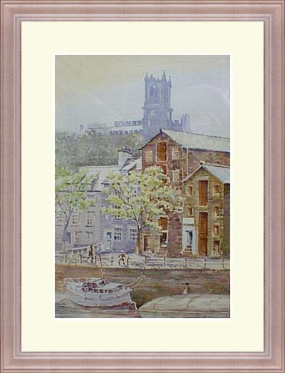 'The Priory over the Quayside at Lancaster'
