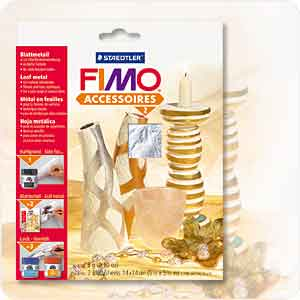 imitation gold metal leaf fimo faber